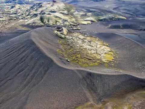 Lakagigar craters from the air