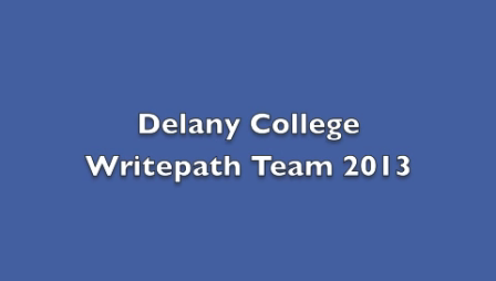 Delany Writepath2013