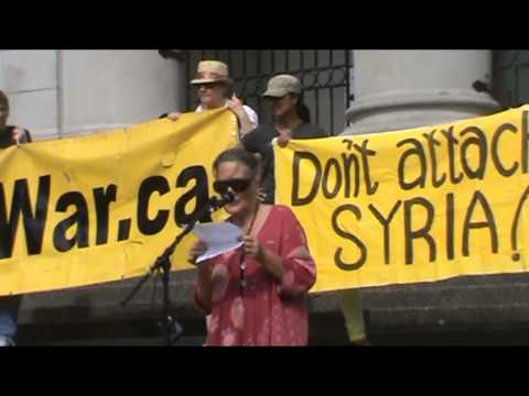Stop War in Syria Sept 8 2013 (3rd emergency rally)