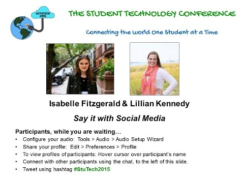 "Isabelle Fitzgerald & Lillian Kennedy on ""Say it with Social Media"""