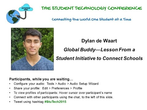 "Dylan de Waart on ""Global Buddy—Lesson From a Student Initiative to Connect Schools"""