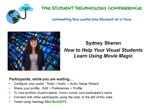 "Sydney Sheren on ""How to Help Your Visual Students Learn Using Movie Magic"""