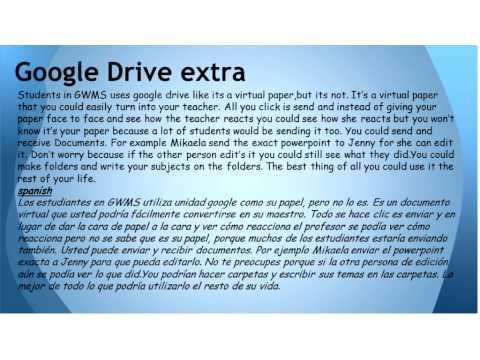"Mikaela Pozo, Jenny Martinez & Kyle Dunbar ""Is Google Drive For You?"""