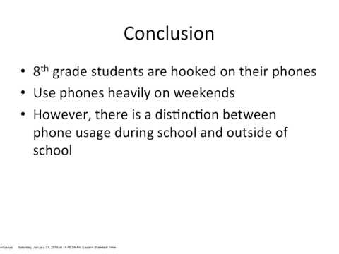 "Anushya Makam on ""Understanding Phone Usage of 8th Grade Students"""