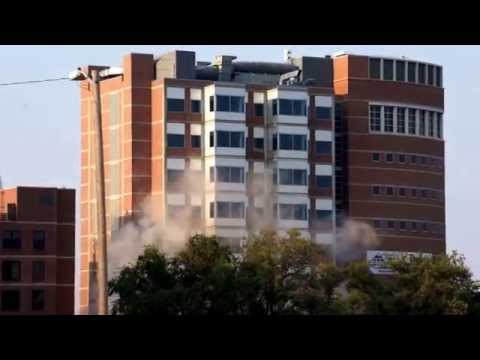 8th and Colorado Old CU Hospital Implosion