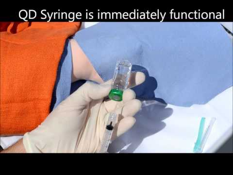 QD Syringe | Accessing Vial and Giving Injection