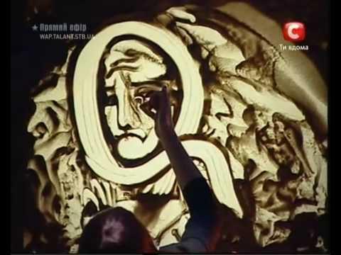 Impressive Ukranian Sand Painter Stuns Audiences