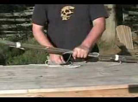 Making a survival Bush Bow and arrow