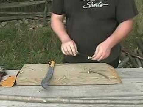Making a Survival Spear Fishing Weapon - Bow hunting