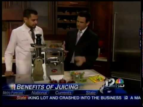 NBC 12 Phoenix News Weekend Today: Benefits of Drinking Raw Vegetable Juice