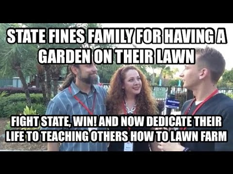 Lawn Vegetable Farmers Fight the Law and Win!!!