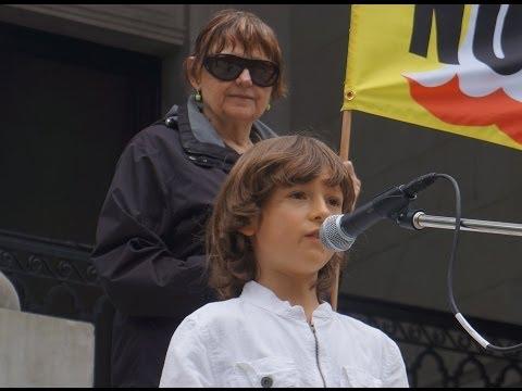 Daniel Bissonet, at March against Monsanto, Vancouver