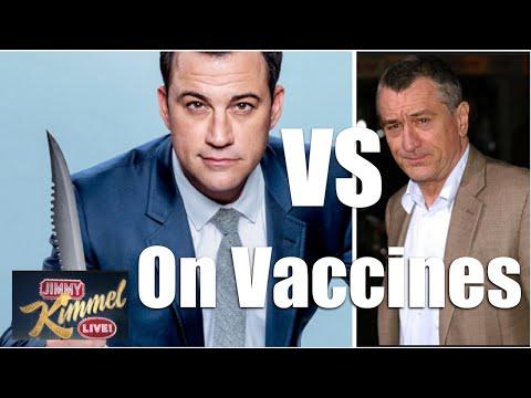 Jimmy Kimmel VS Robert De Niro on The Vaccine Movement