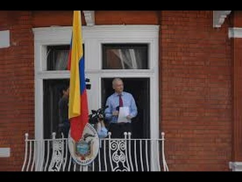 Julian ASSANGE speech at the Ecuadorian Embassy !