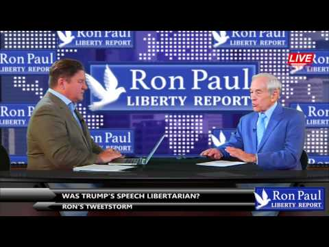Ron's Tweetstorm - Was Trump's Speech Libertarian?