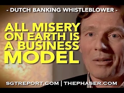 """WHISTLEBLOWER: """"ALL MISERY ON EARTH IS A BUSINESS MODEL"""""""