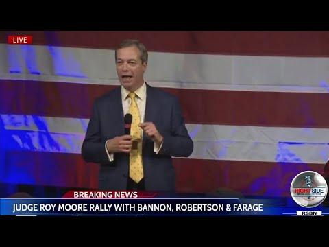 Nigel Farage speech in Alabama in support of Roy Moore