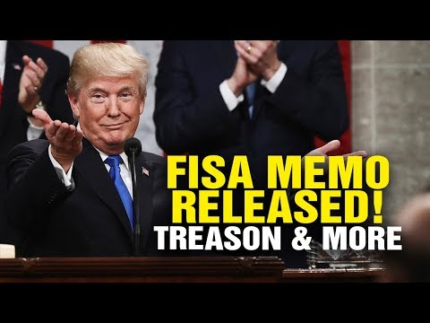 FISA MEMO RELEASED! Treason exposed