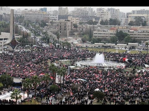 SYRIA UPDATE! CROWDS ARE TAKING TO THE STREETS IN DAMASCUS