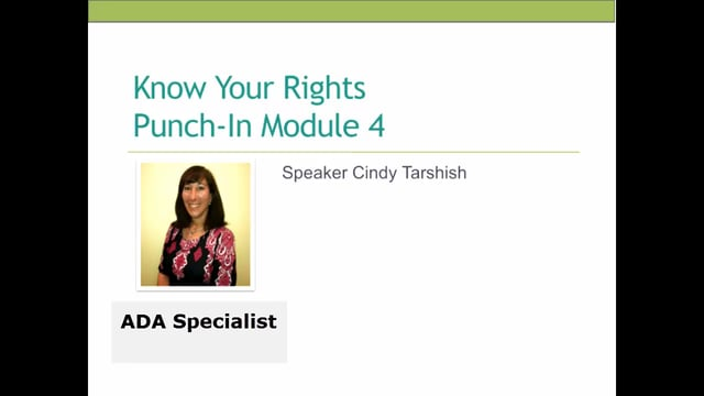 Webinar: Know Your Rights
