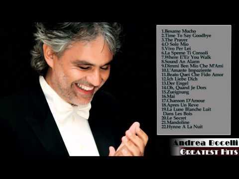 Miglior canzone di Andrea Bocelli - bets songs of ANDREA BOCELLI