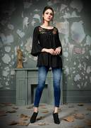 New Patterns in Black Kurtis Available Online At Mirraw