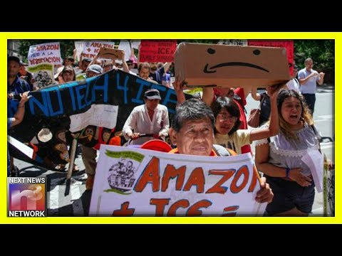 Illegal Aliens STORM Jeff Bezos' House, Protests Amazon For Working With ICE