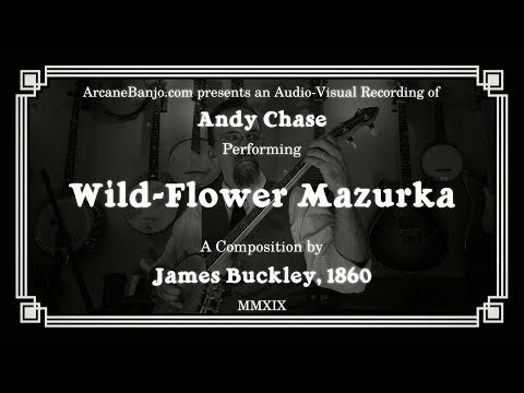 Wild-flower Mazurka - Fingerstyle Banjo Waltz from 1860