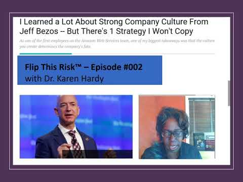 FlipThisRisk #002: Producing A Positive Risk Culture the Amazon Way!