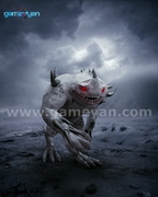 3D Monster character Modeling design poster by Game Outsourcing Company