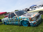 Chevy S10 mini pickup Motors and Mutts Car Show by York Mustang Club and Parma Pizza