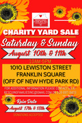 AUGUST CHARITY YARD SALE FLYER