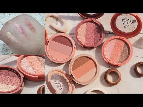 3CE TRIPLE SHADOW 2019 SWATCHES & REVIEW | K-BEAUTY