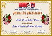 SVA Diploma Mencion Especial Antonio Machado