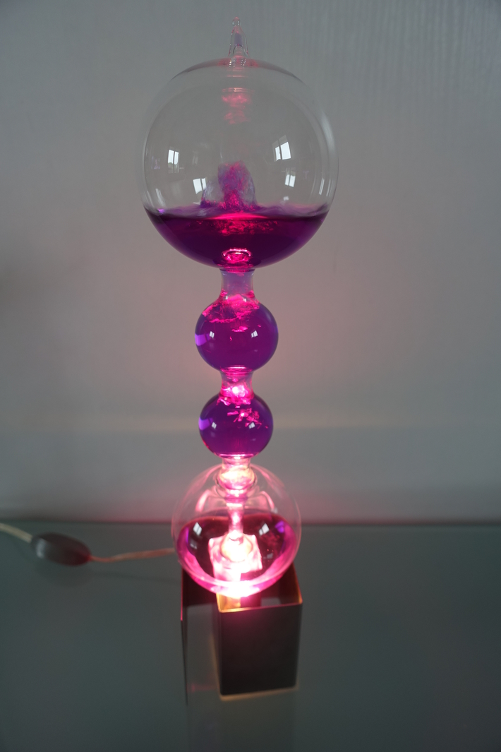 French boiler purple lamp