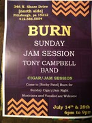 Burn Sunday Cigar/Jam Night with Tony Campbell