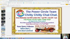 Power Circle Team Chitty Chitty Chat Chat Get-together Webinar Replay 24th July 2019