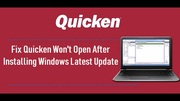 Quicken-Wont-Open