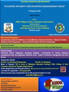 "National Seminar cum Workshop on ""Academic Integrity and Reference Management Tools"""