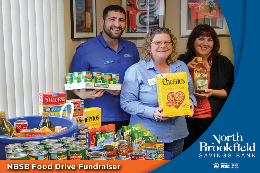 North Brookfield Savings Bank Food Drive