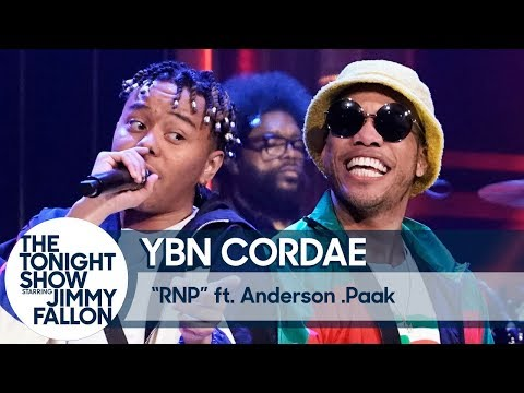 """YBN Cordae Performs """"RNP"""" with Anderson .Paak on The Tonight Show"""