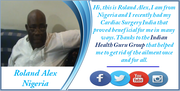 Catch Nigerian Patient sharing his Successful Cardiac Surgery India Story