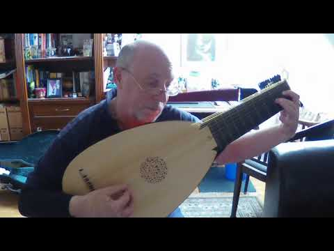 Retirada in d minor for baroque lute composed by Wenzel Ludwig Edler von Radolt 1701