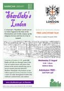 Shardlake's London - talk