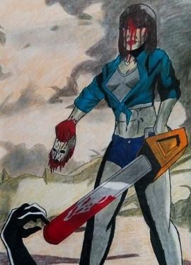 "Vanita ""Stretch"" Brock from The Texas Chainsaw Massacre 2"