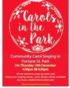 Community Carol singing in Fortune Street Park