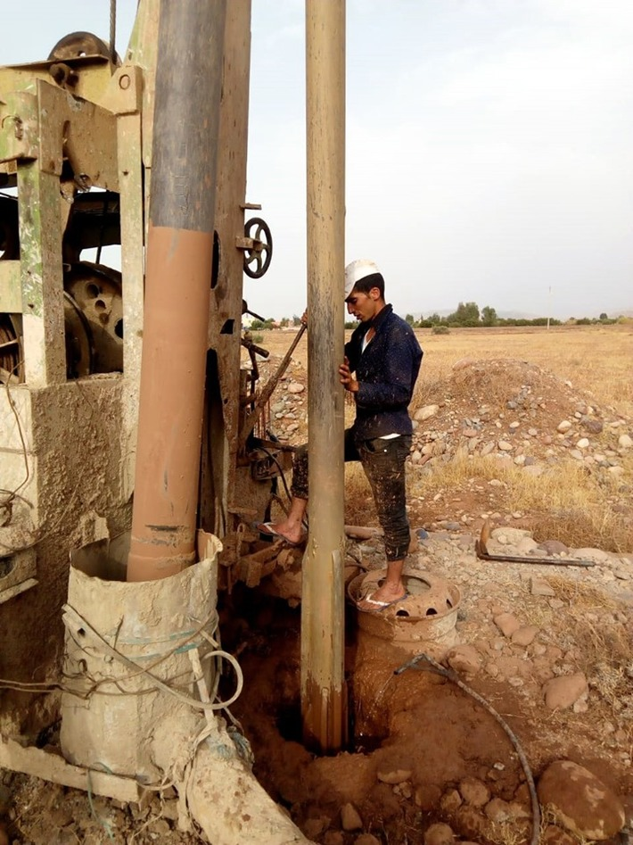 Mohamed Dekkak at the 2nd Water Drilling Project by Anouar Association to provide clean Drinking water for the villages of Ait Faska El haouz Marrakech #AnouarAssociation #Anouar #Associationanouar #C
