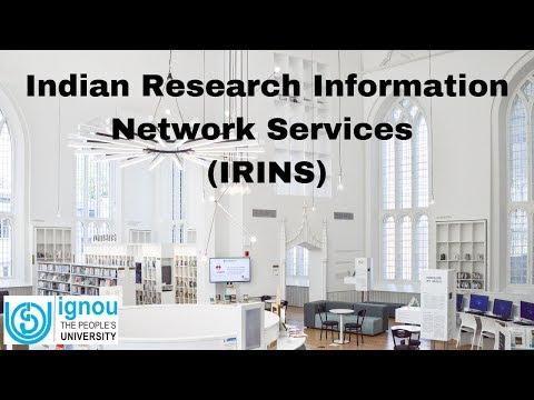IRINS-Indian Research Information Network System   ARPIT   IGNOU   Dr. Jagdish Arora