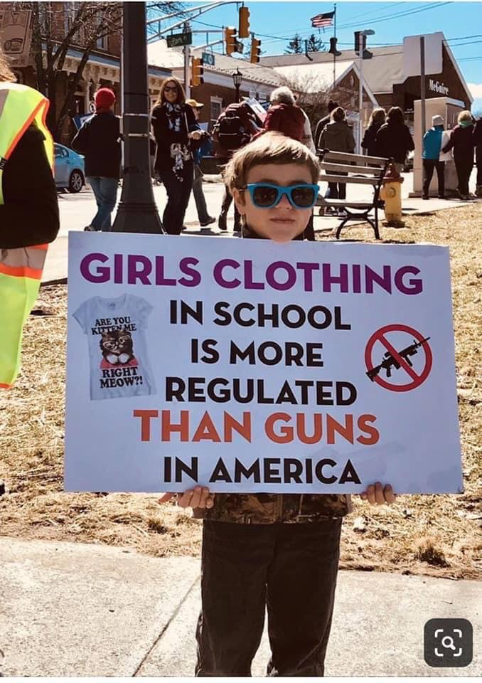 Girls clothing in schools is more regulated than guns
