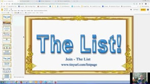 """The List"" This Has Never Been Done Before Must Watch Webinar Replay 4th Aug 2019"